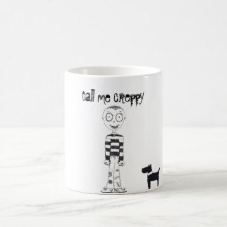 Call me creppy with bats, dog and boy coffee mugs