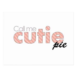 Call Me Cutie Pie Postcard