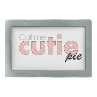 Call Me Cutie Pie Rectangular Belt Buckle