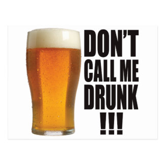 Call Me Drunk Postcard