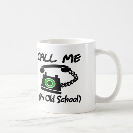 Call Me, I'm Old School With Retro Telephone Coffee Mugs