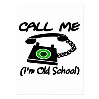 Call Me, I'm Old School With Retro Telephone Postcard