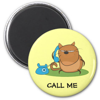 Call Me 6 Cm Round Magnet