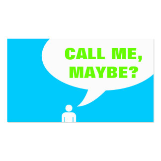call me, maybe? speech bubble (color customizable) Double-Sided standard business cards (Pack of 100)