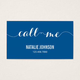 Call Me Modern Calling Card - Blue