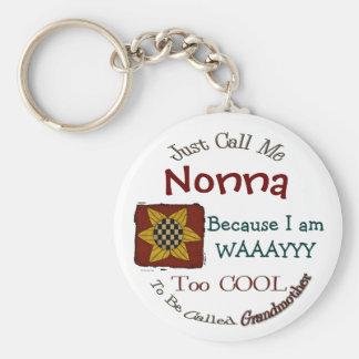 Call Me Nonna Cool Grandma Keychain Prim Sunflower