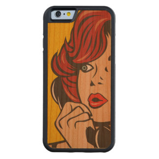 Call Me...Pop Art Print Cherry iPhone 6 Bumper