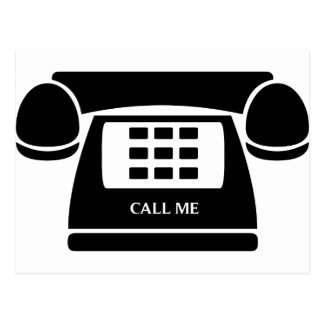 Call Me!  Telephone!  Let's Talk! Post Cards