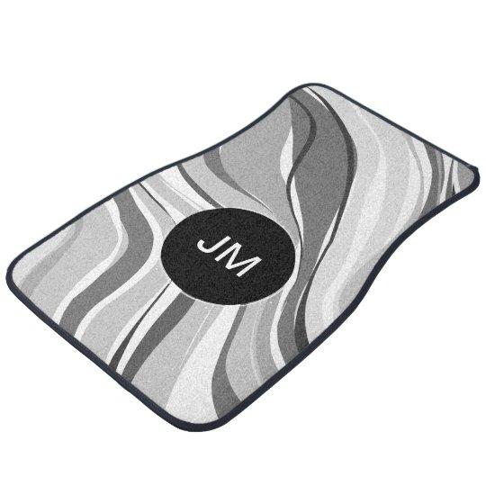 Call Monogram Modern Abstract Floor Mat