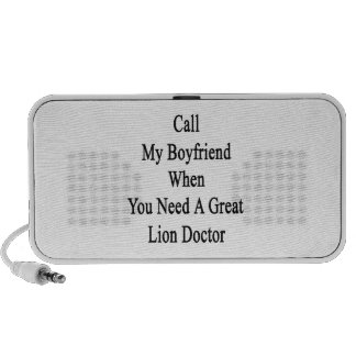 Call My Boyfriend When You Need A Great Lion Docto Notebook Speaker