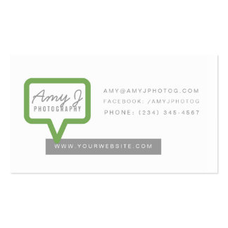 Call Out Business Card in Green