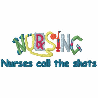 Call Shots Nurse Embroidered Long Sleeve Polo Shirt