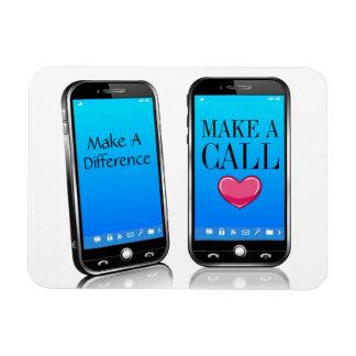 Call Someone - Make Their Day Reminder Rectangular Photo Magnet