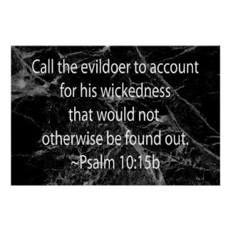 Call the Evildoer to Account Poster