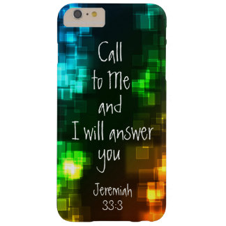 Call to Me Bible Verse Jeremiah 33:3 Barely There iPhone 6 Plus Case