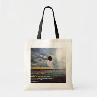 Call to Me ~ Christian Bible Verse Encouragment Budget Tote Bag