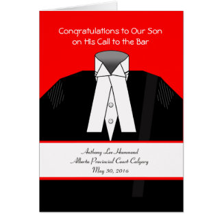 Call to the Bar, Custom Front, Add Your Text Greeting Card