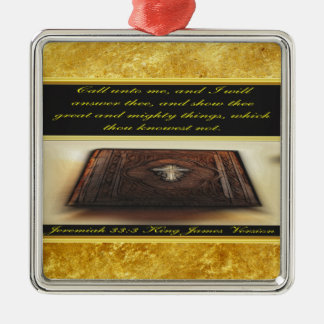 Call unto me, and I will answer thee Jeremiah 33:3 Christmas Ornament