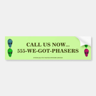 cALL US NOW Bumper Sticker