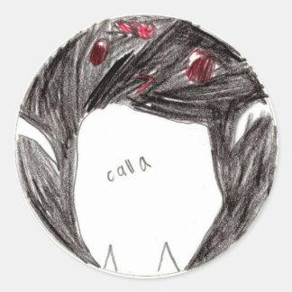 Calla: Circle Sticker