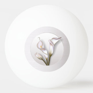 Calla Flowers Ping Pong Ball