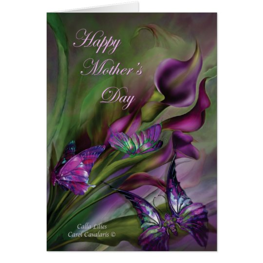Calla Lilies Mother's Day ArtCard Card