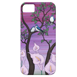 """""""calla lilies & tree swallows"""" iphone 5 case"""