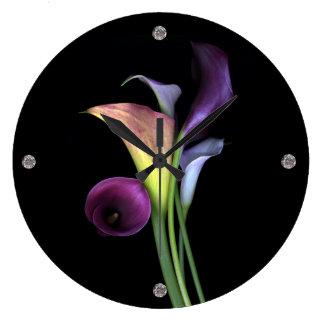 Calla Lilies Wall Clock