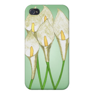 Calla Lilies White iPhone 4 Covers