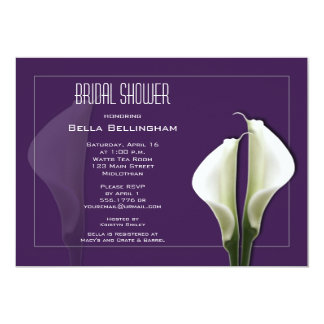 Calla Lillies Bridal Shower Invitation
