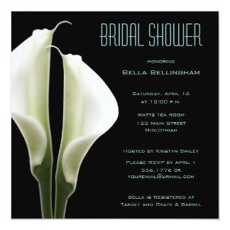 Calla Lillies Bridal Shower Invitation in Aqua