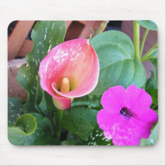 Calla Lilly and Petunia Mouse Pad