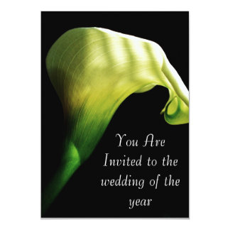 calla lilly wedding  Invitation