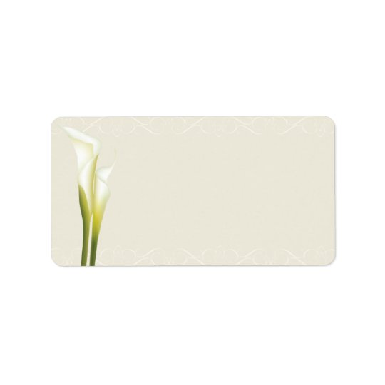 Calla Lily Address Labels