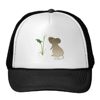 Calla lily and cute mouse cap
