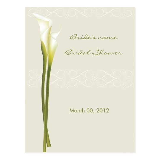 Calla Lily Bridal Shower Advice Cards