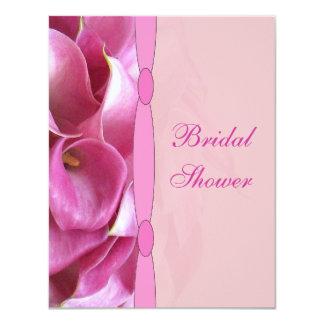 """Calla Lily Bridal Shower Invitation 4.25"""" X 5.5"""" Invitation Card"""