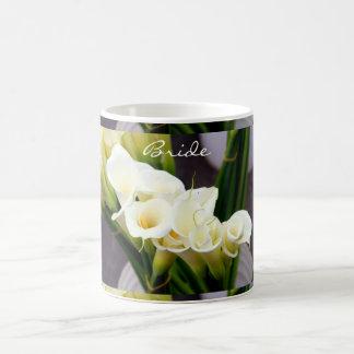 calla lily bride coffee mug