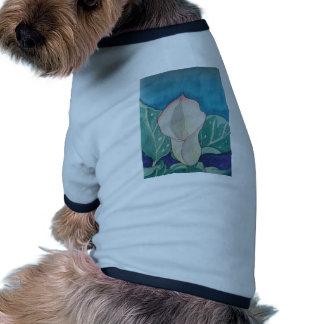 Calla Lily Dog Tee Shirt