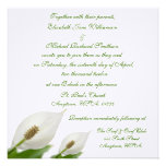 Calla Lily Flowers White Wedding Personalized Announcement