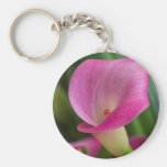calla lily in the garden basic round button key ring