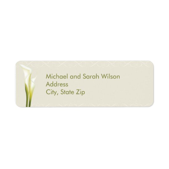 Calla Lily Return Address Labels