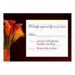 Calla lily RSVP response card Business Card