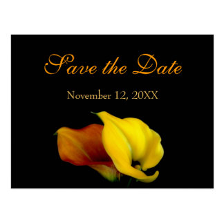 Calla Lily Save the Date Announcement Postcard
