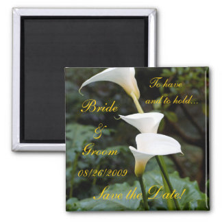 Calla Lily Save the Date! Refrigerator Magnet