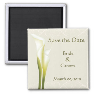 Calla Lily Save the Date Magnets