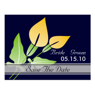 Calla Lily Save The Date Postcards