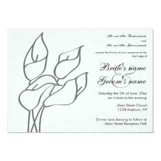 Calla Lily wedding invitation