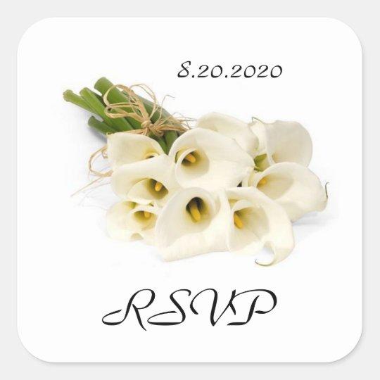 Calla Lily Wedding Invitation Envelope Seals