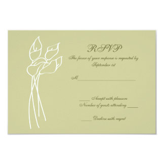 Calla Lily wedding rsvp Card